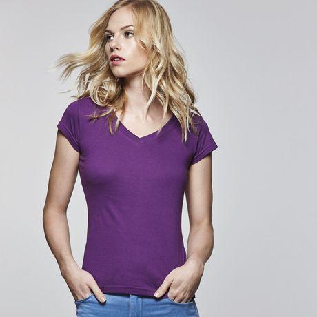 Camisetas manga corta roly victoria mujer de 100% algodón con publicidad vista 1