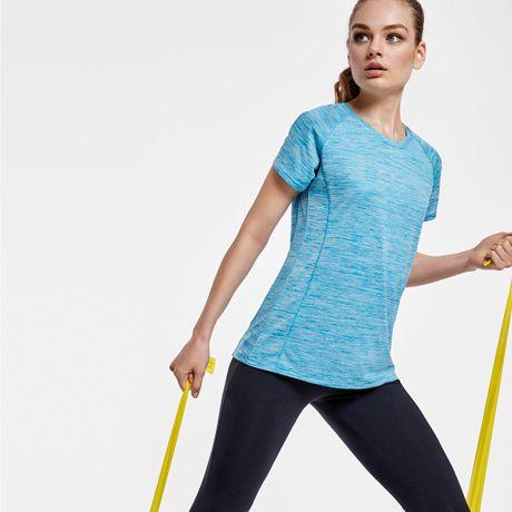 Camisetas técnicas roly austin mujer de poliéster con logo vista 1