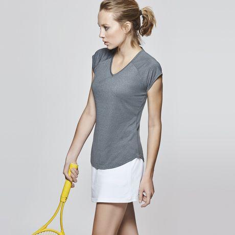 Camisetas técnicas roly avus mujer de poliamida con logo vista 1