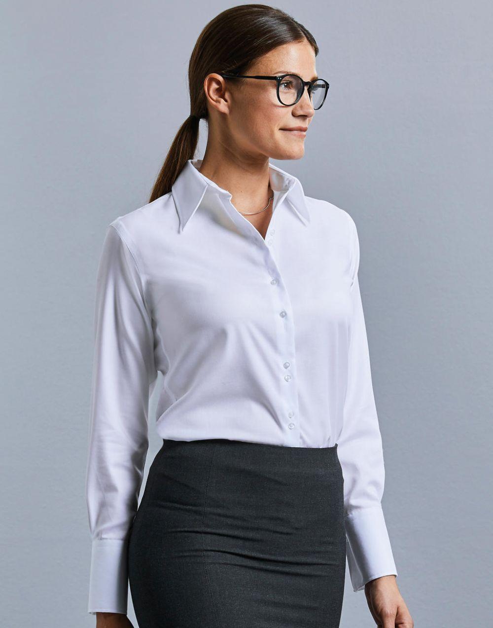 Camisas manga larga russell manga larga ultimate mujer con logo vista 1