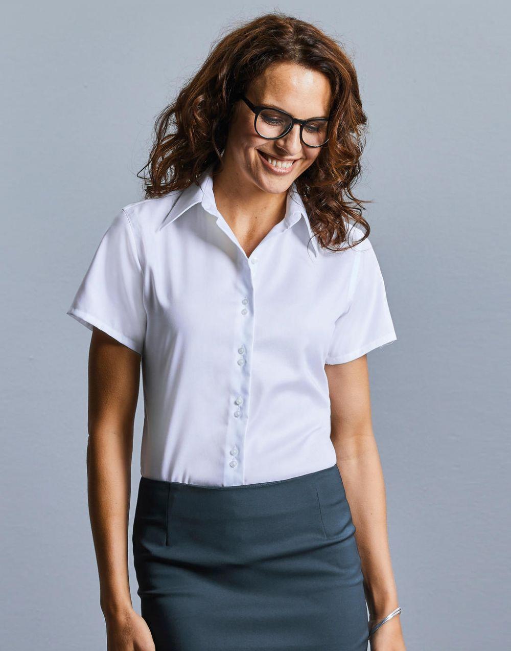 Camisas manga corta russell ultimate mujer con publicidad vista 1