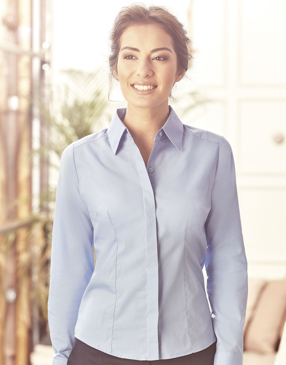 Camisas manga larga russell popelina manga larga mujer con impresión imagen 6