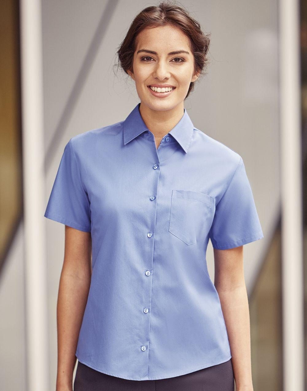 Camisas manga corta russell popelin mujer con impresión vista 1