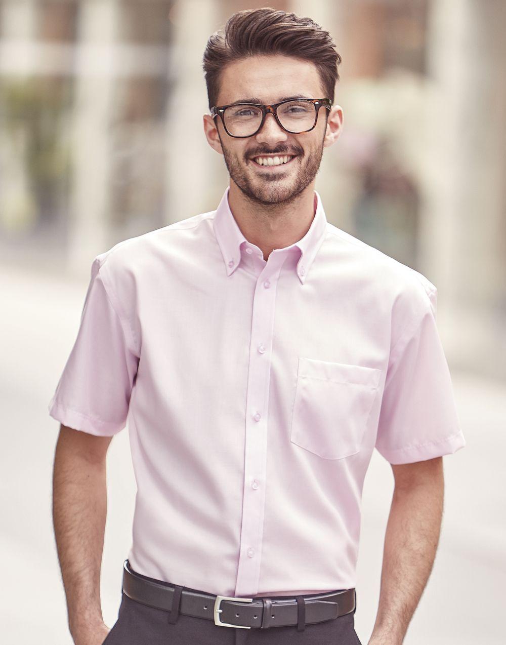 Camisas manga corta russell ultimate hombre para personalizar imagen 2