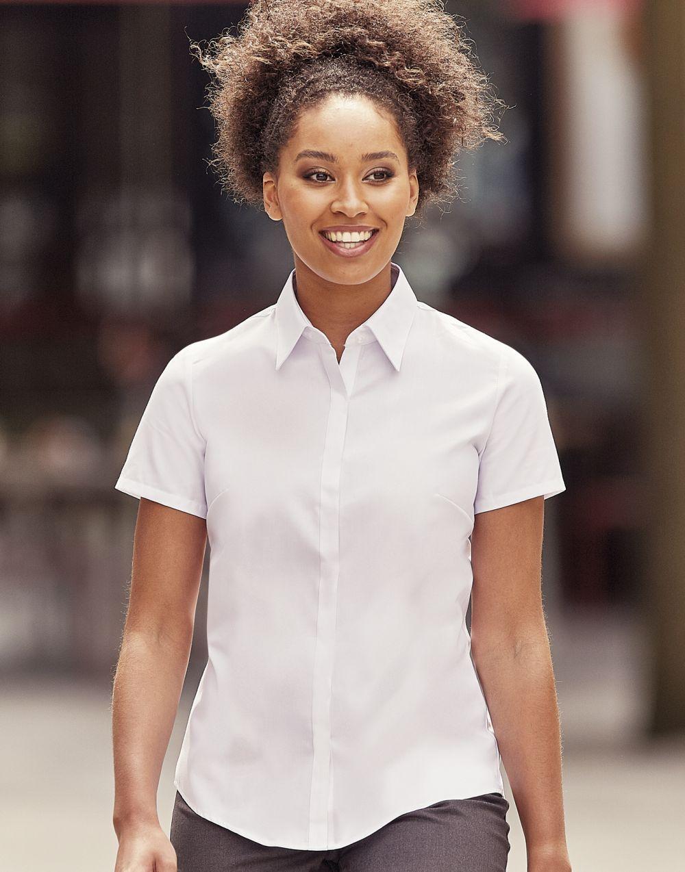 Camisas manga corta russell ajustada manga corta ultimate mujer vista 4