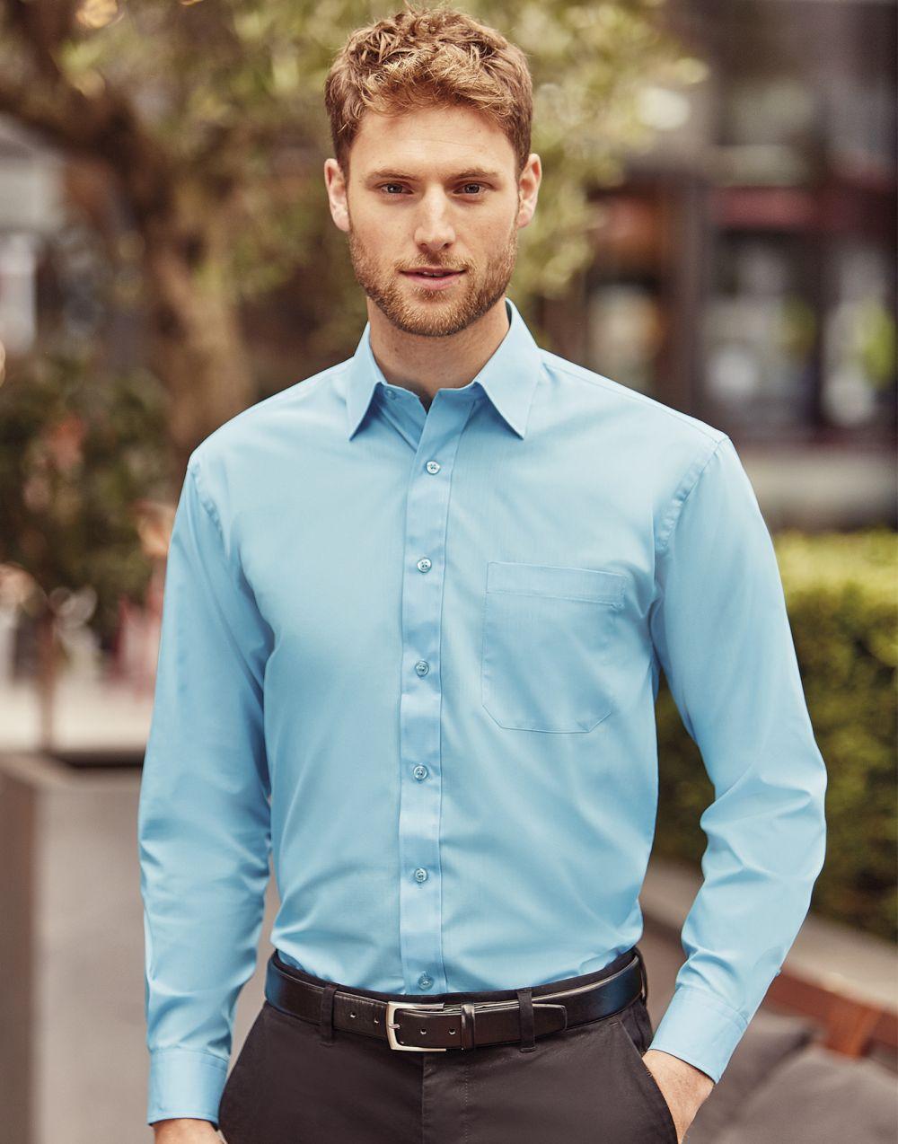 Camisas manga larga russell de hombre popelin manga larga vista 4