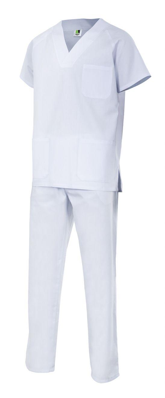 Casacas sanitarias velilla conjunto pijama de algodon con impresión vista 1