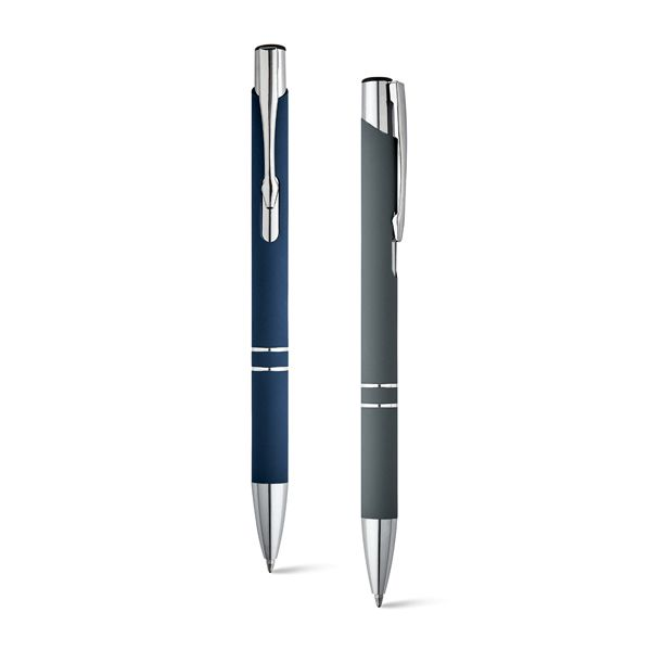 Bolígrafos básicos beta soft de metal con publicidad vista 1