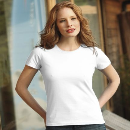 Camisetas manga corta keya wcs180w de 100% algodón con publicidad vista 1