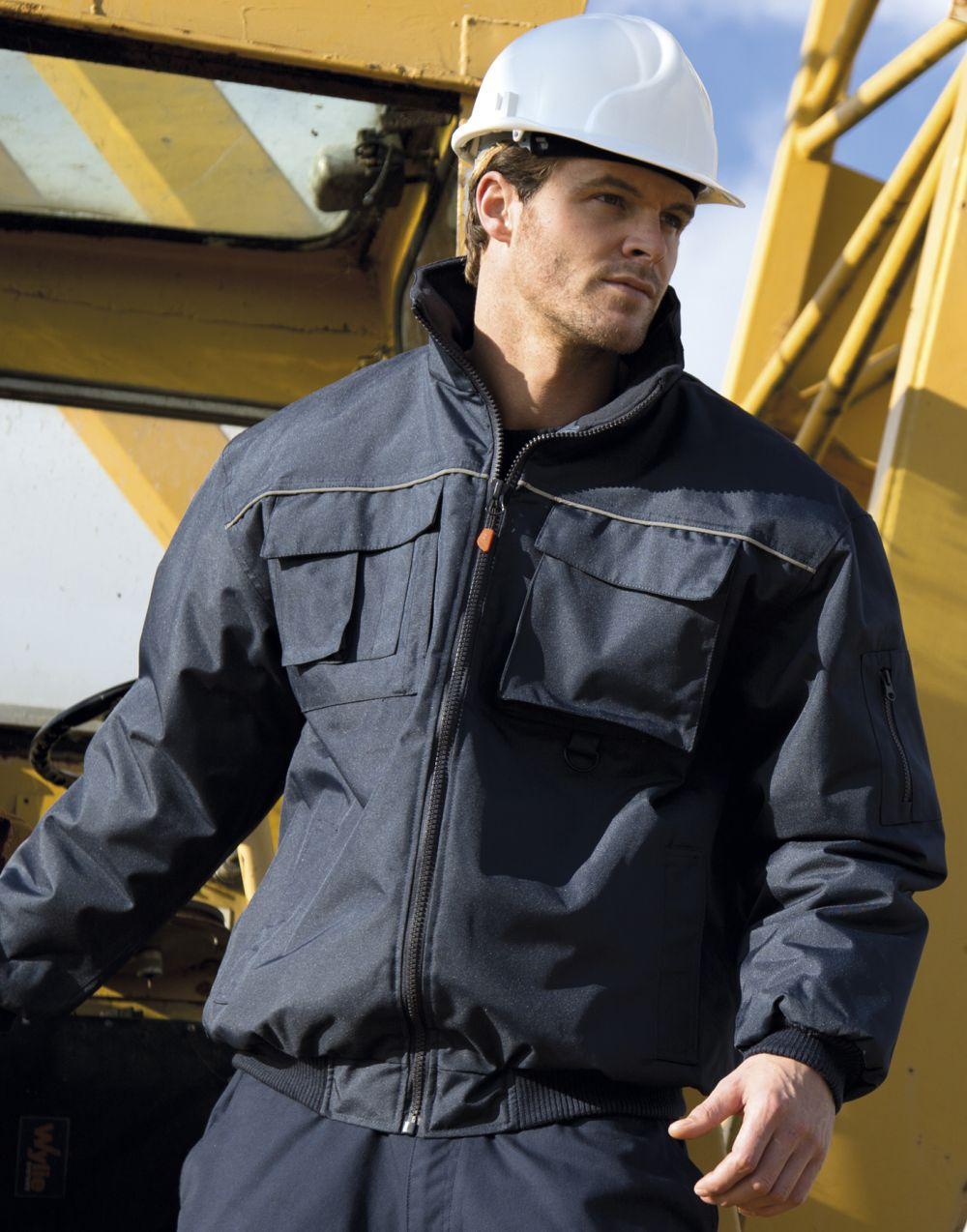 Chaquetas y cazadoras de trabajo result chaqueta hombre work guard sabre pilot jacket con logo imagen 2