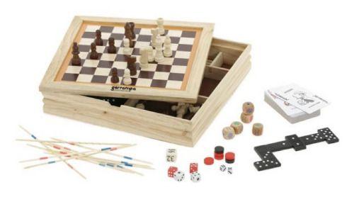 Barajas y juegos de mesa playtime. set de juegos 4 en 1 vista 1
