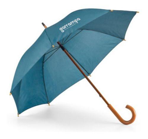 Paraguas clásicos betsey de poliéster con logo vista 1
