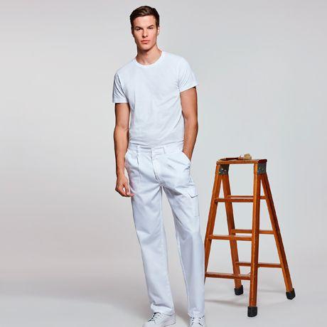 Pantalones de trabajo roly pintor de algodon con impresión vista 1