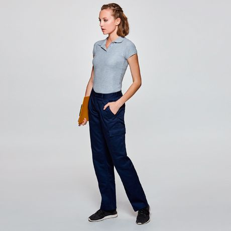 Pantalones de trabajo roly daily mujer de poliéster con impresión vista 1