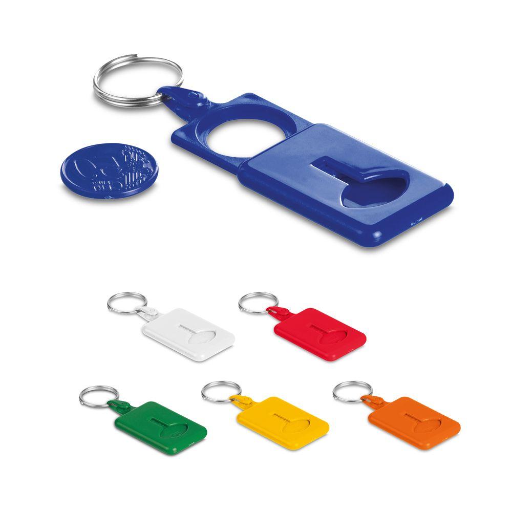 Llaveros con moneda orevall de plástico con logo imagen 2