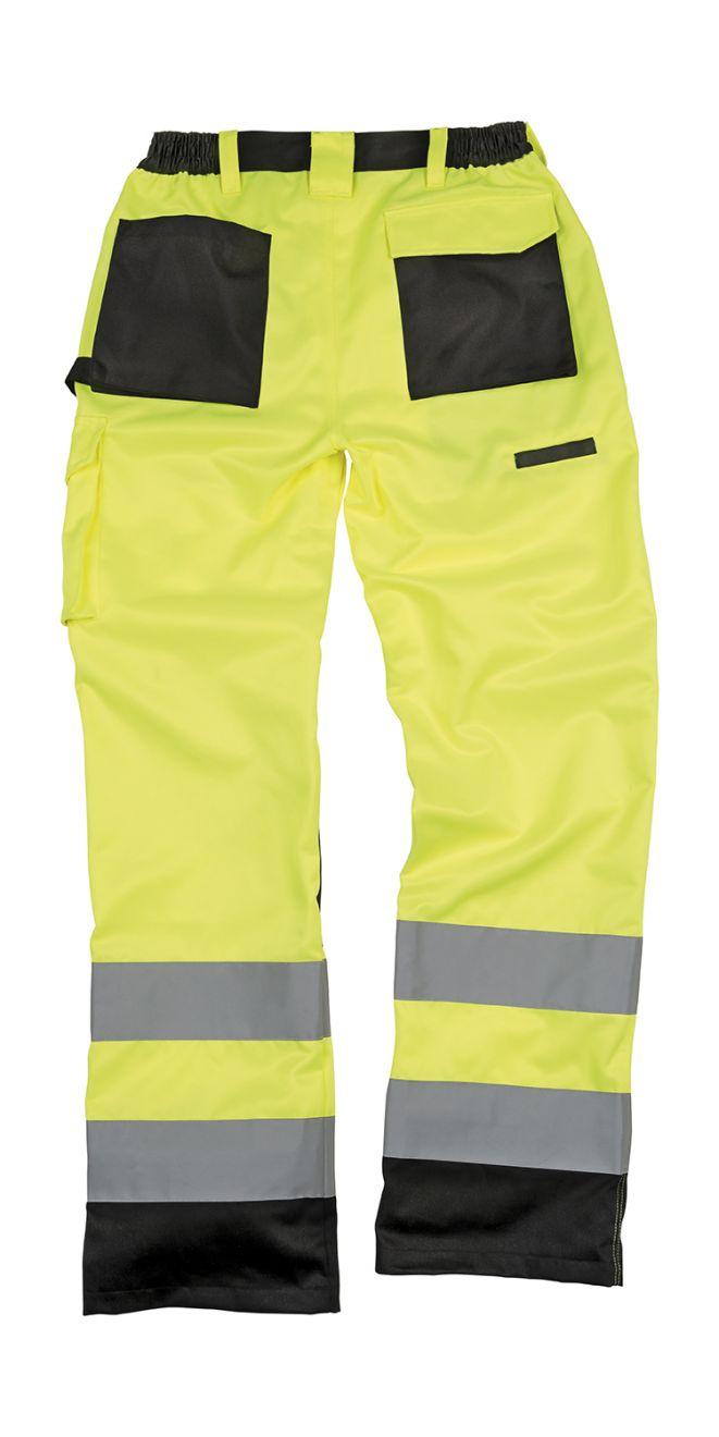 Pantalones reflectantes result cargo con logo vista 1