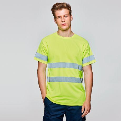 Camisetas reflectante roly delta de poliéster vista 1