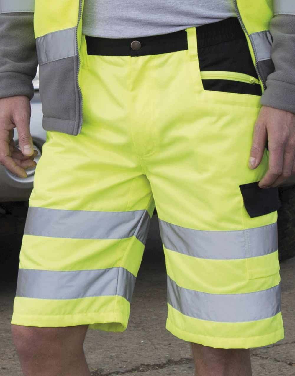 Pantalones reflectantes result corto cargo para personalizar imagen 2