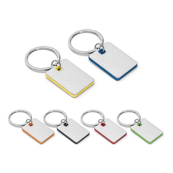 Llaveros con placa becket de metal con logo imagen 2