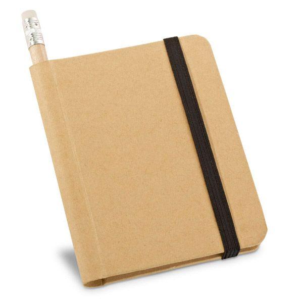 Libretas con banda elastica bronte de cartón ecológico con publicidad imagen 3