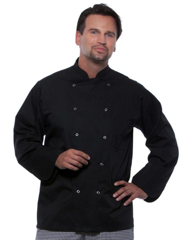 Chaquetas de cocinero karlowsky chef unisex con logo imagen 1