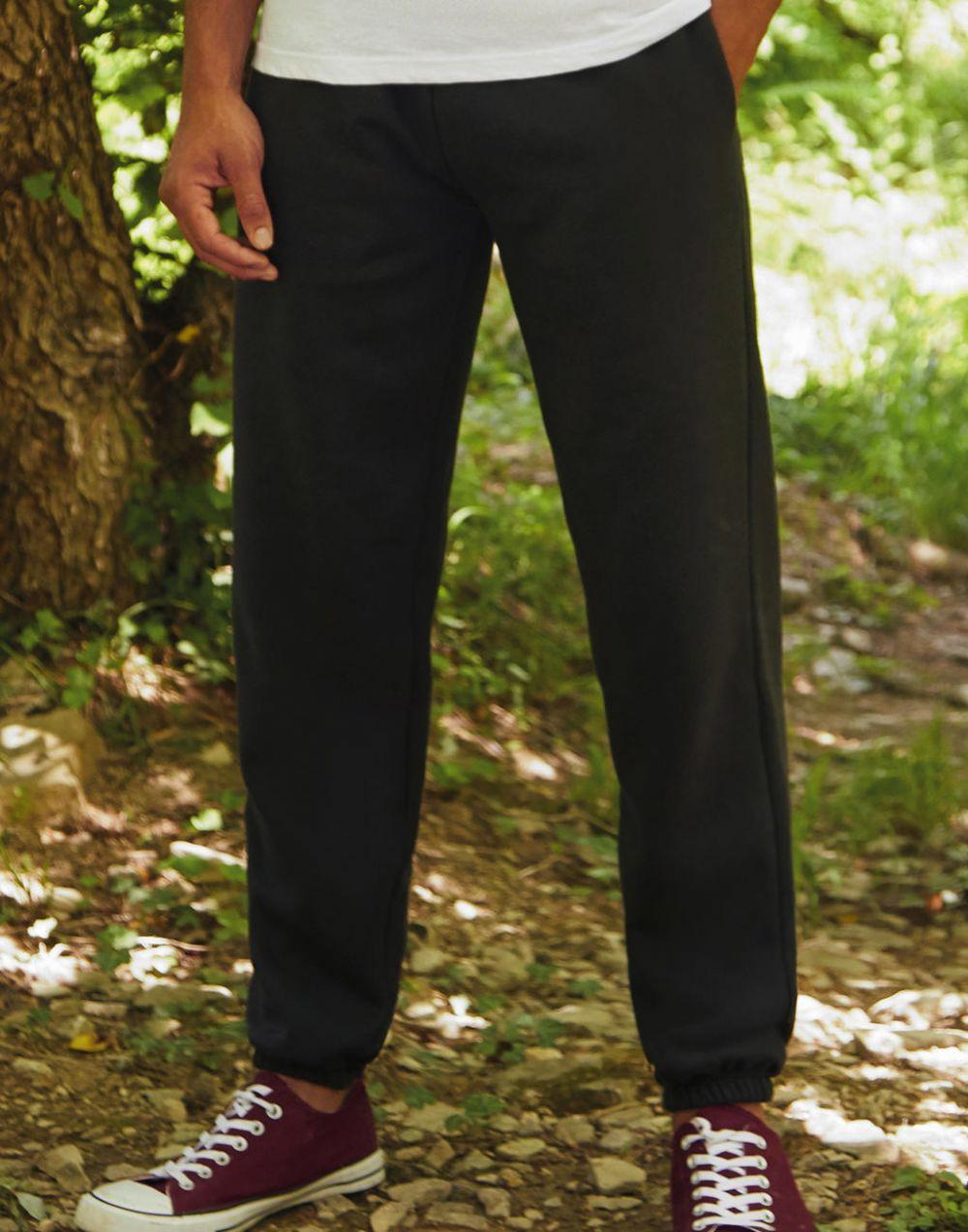 Pantalones técnicos fruit of the loom con bajo elástico para personalizar vista 1