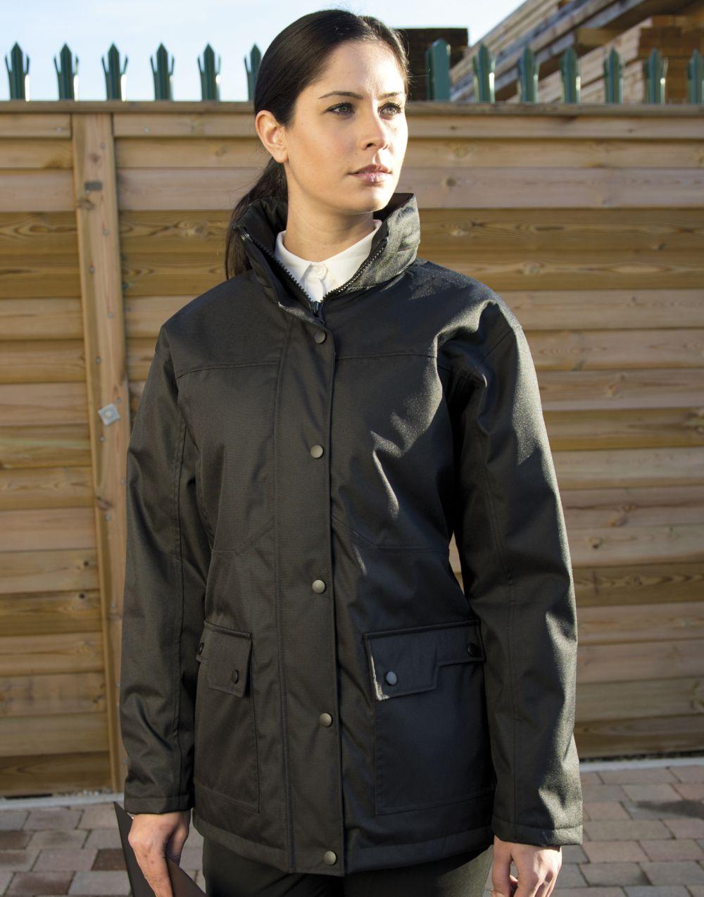 Parkas y abrigos result platinum mujer con logo vista 2