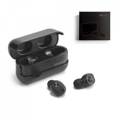 Auriculares botón ekston wiretap de plástico con impresión vista 7