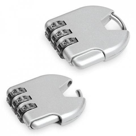 Accesorios viaje clavis. candado de metal para personalizar vista 3