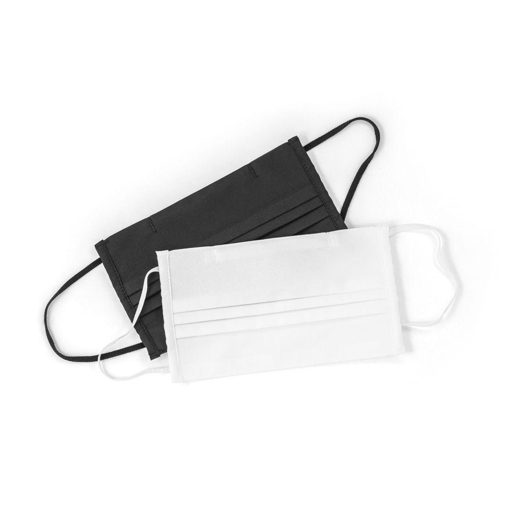 Seguridad covid mascarilla textil reutilizable de poliéster con logo imagen 5
