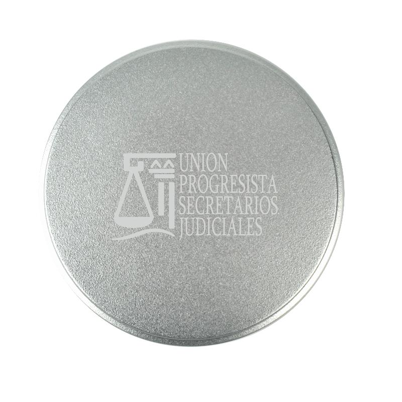 Fundas y embalajes round de metal con logo imagen 1