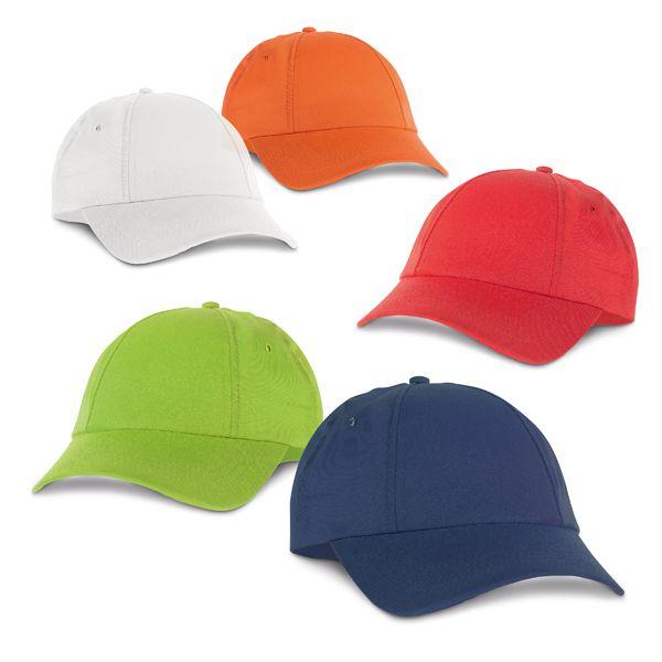 Gorras serigrafiadas miuccia de poliéster con publicidad vista 1