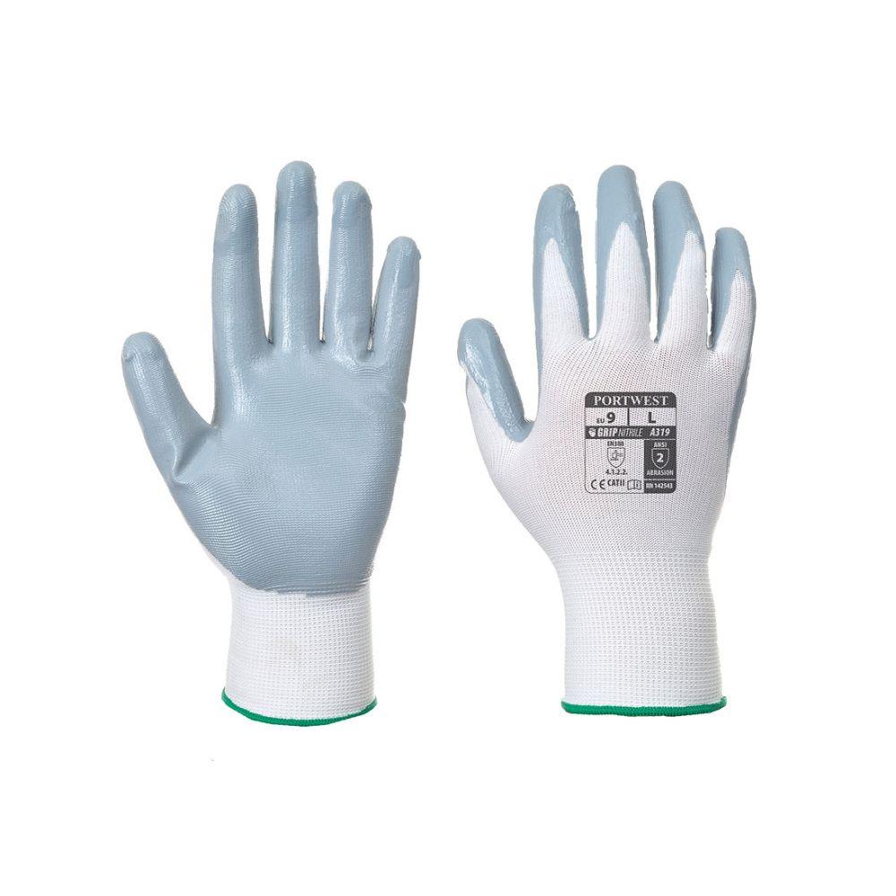 Guantes de trabajo de nitrilo flexo grip (en bolsa expositora) para personalizar vista 1