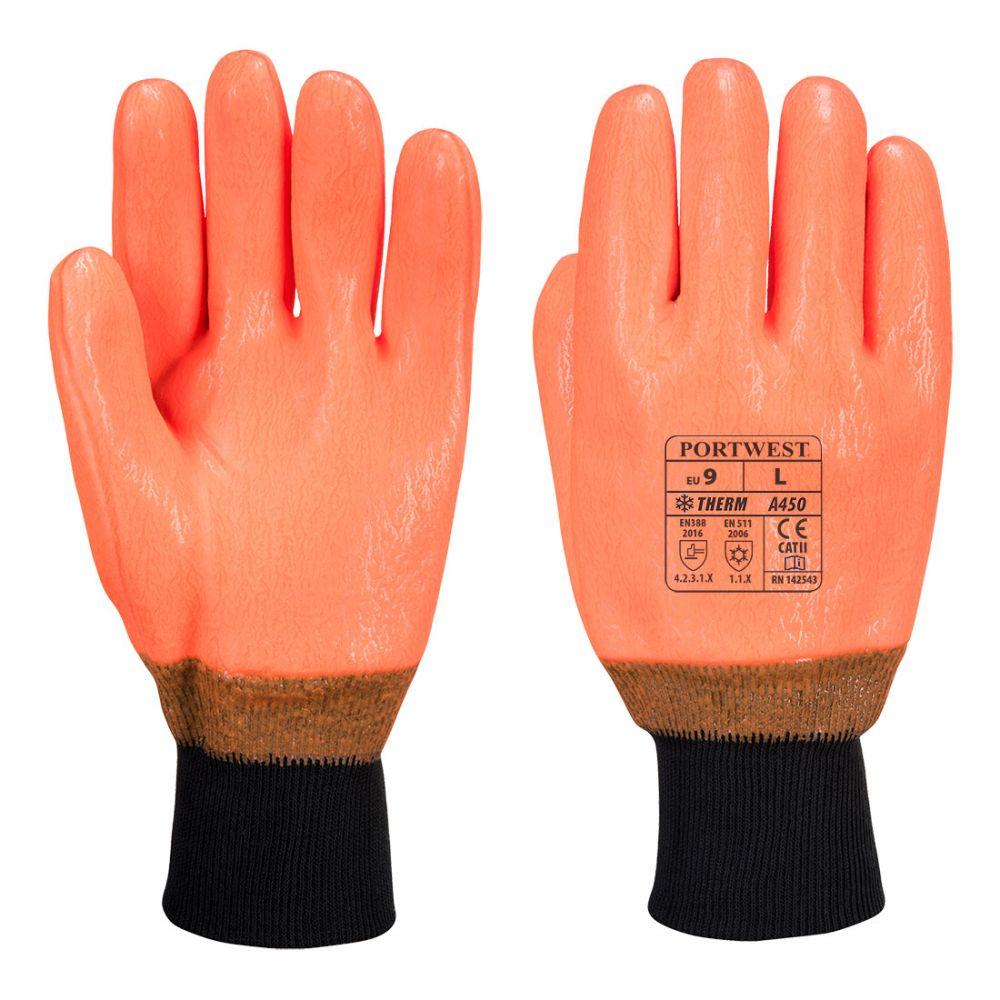 Guantes de trabajo alta visibilidad impermeable con logo vista 1