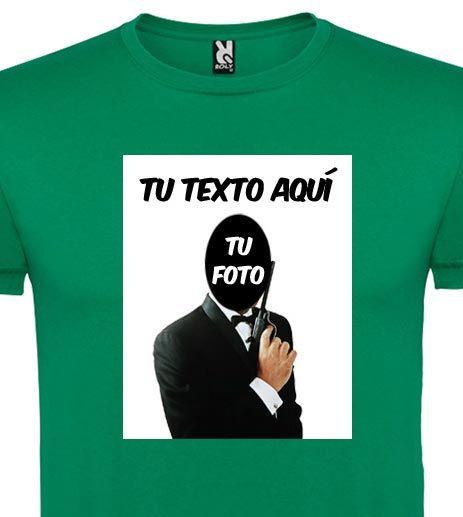 Camisetas despedida hombre despedida agente secreto hombre y unisex 100% algodón con logo vista 1