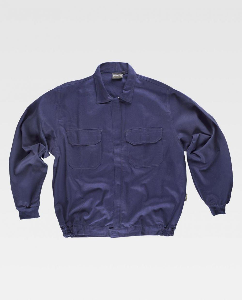 Chaquetas de trabajo workteam cazadora cuello camisero 2 bolsillos de 100% algodón vista 1