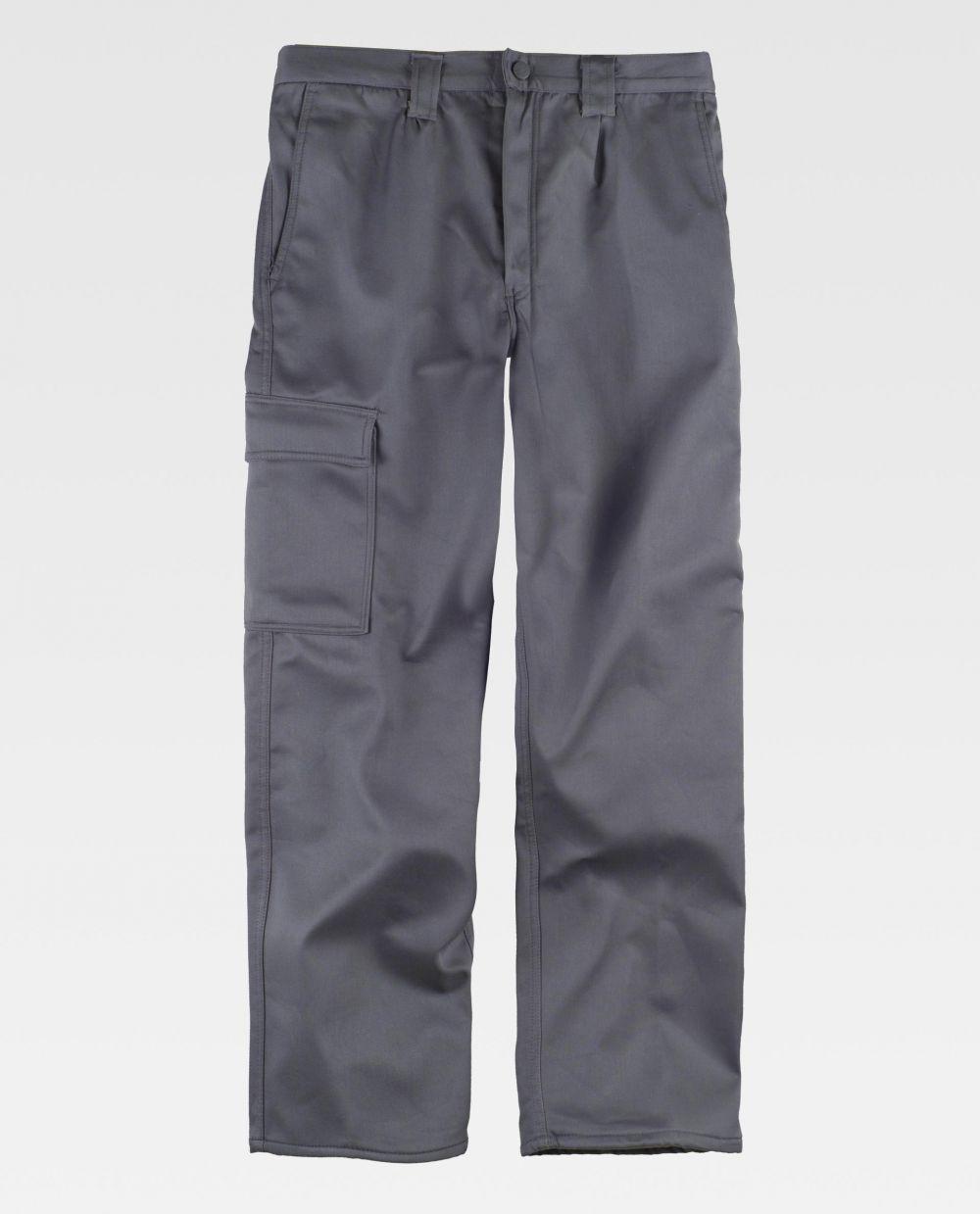 Pantalones de trabajo workteam b1408 de algodon para personalizar vista 2