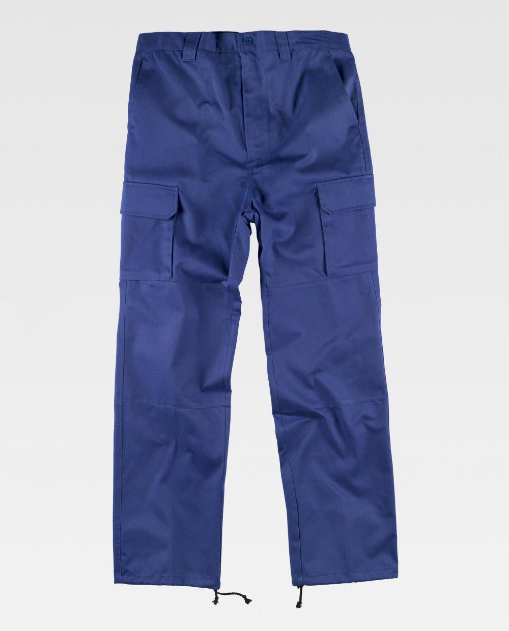 Pantalones de trabajo workteam b1416 de poliéster vista 2