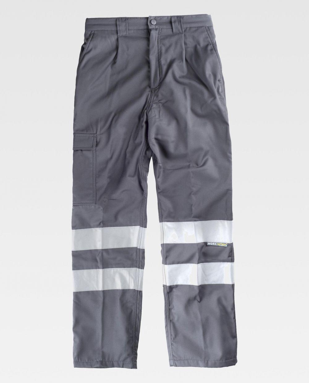 Pantalones de trabajo workteam b1417 de algodon para personalizar vista 2