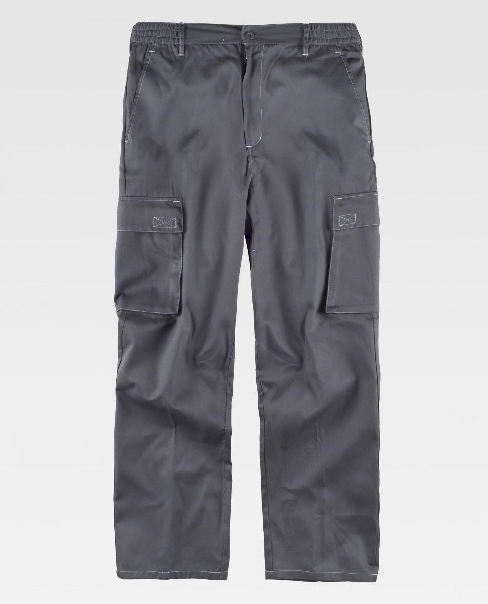 Pantalones de trabajo workteam b1418 de poliéster vista 2