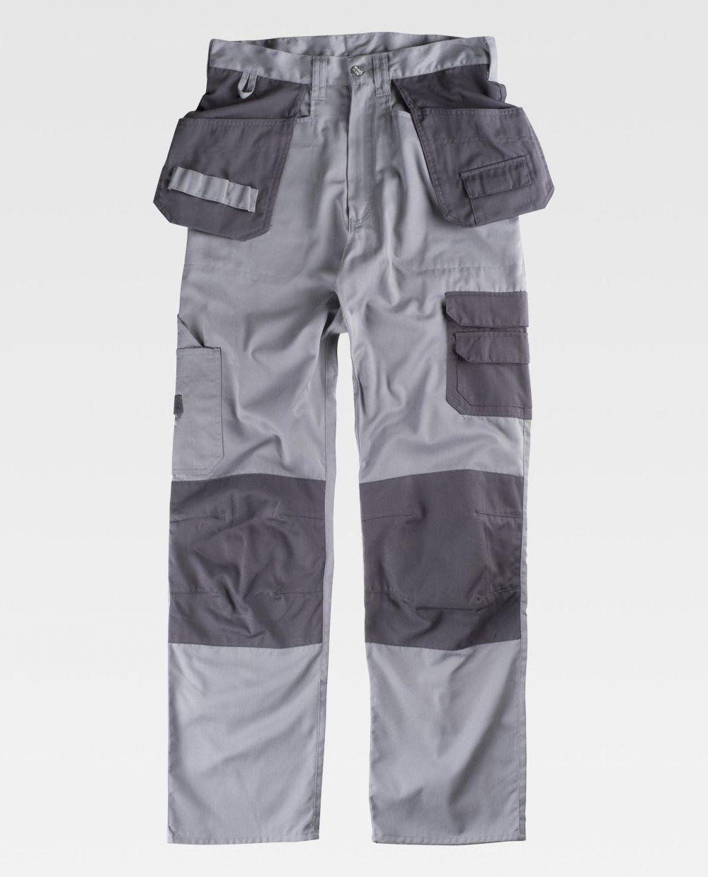 Pantalones de trabajo workteam b1419 de poliéster para personalizar vista 2