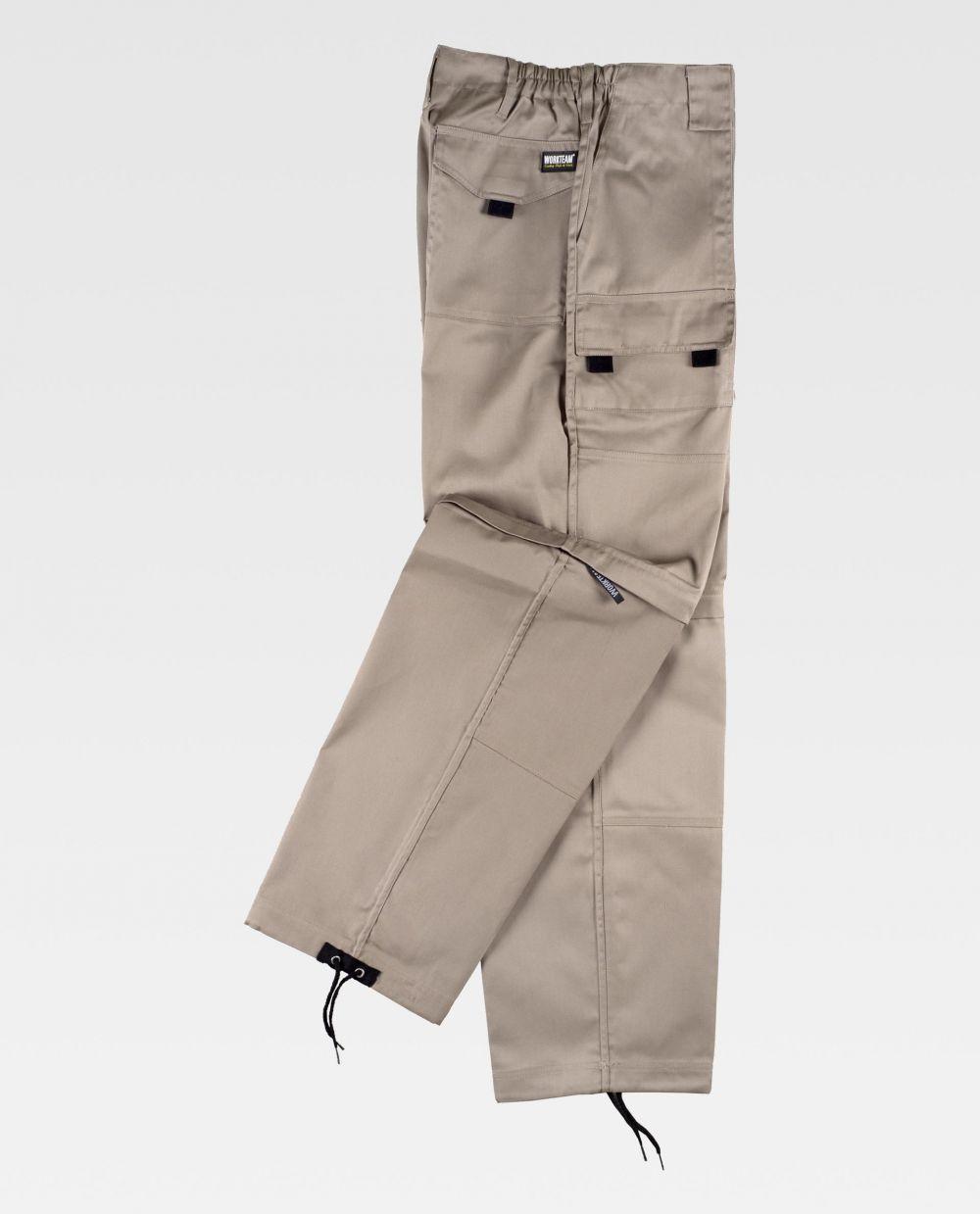 Pantalones de trabajo workteam b1420 de poliéster vista 2