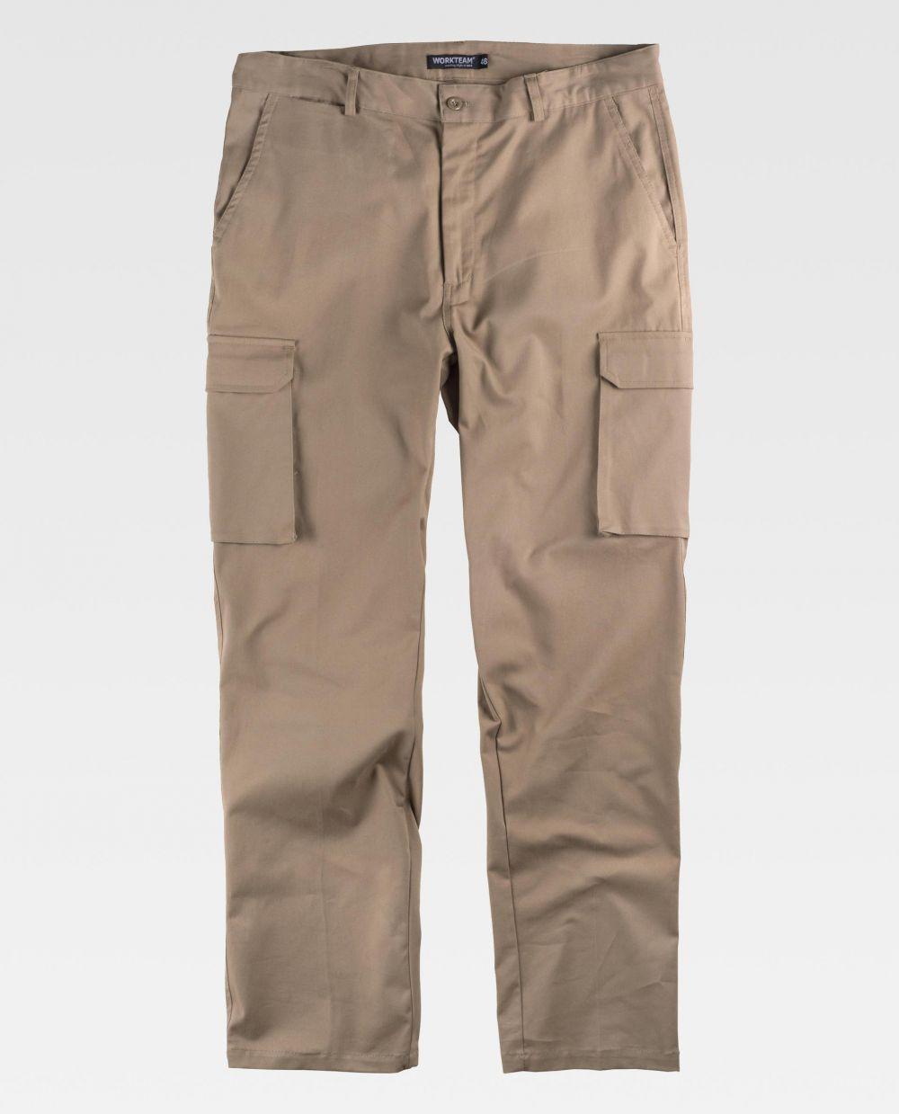 Pantalones de trabajo workteam b1421 de algodon para personalizar vista 2