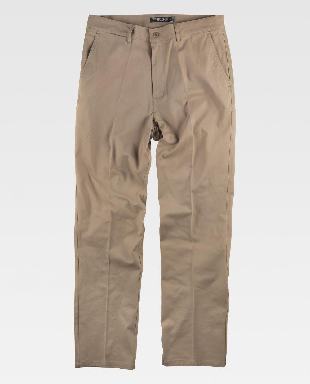 Pantalones de trabajo workteam b1422 de algodon vista 2
