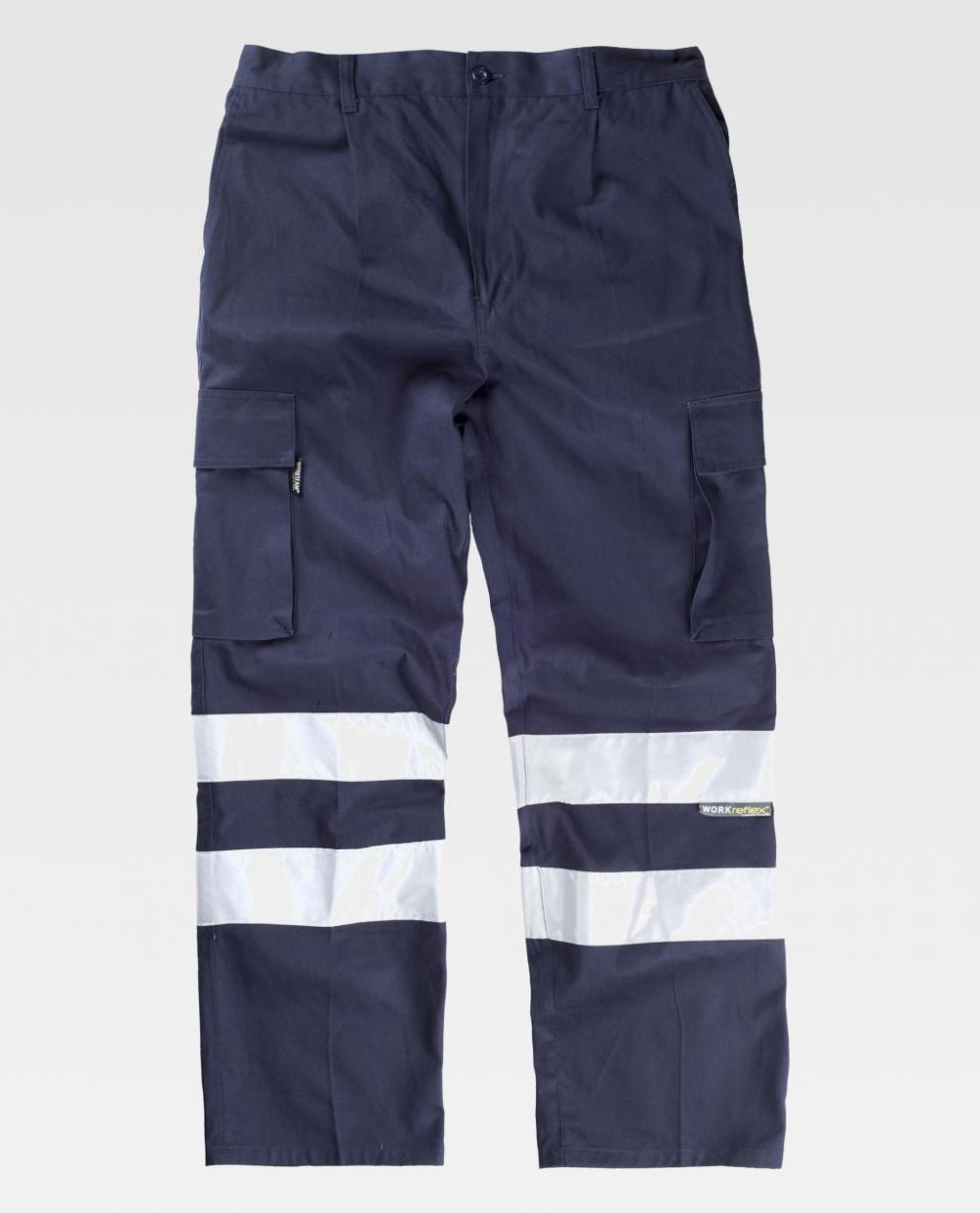 Pantalones reflectantes workteam recto algodon de 100% algodón vista 1