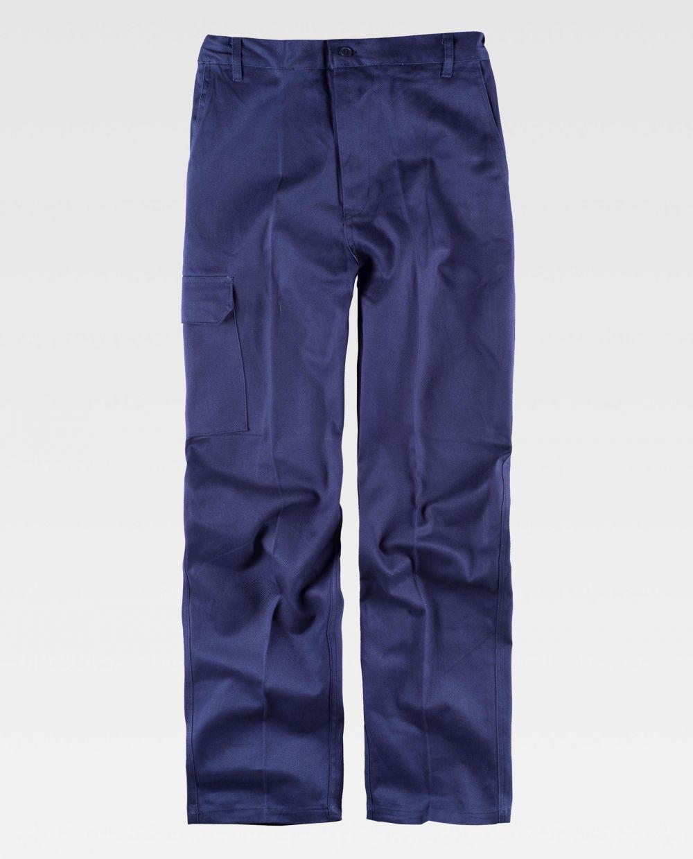 Pantalones de trabajo workteam b1457 de 100% algodón para personalizar vista 2
