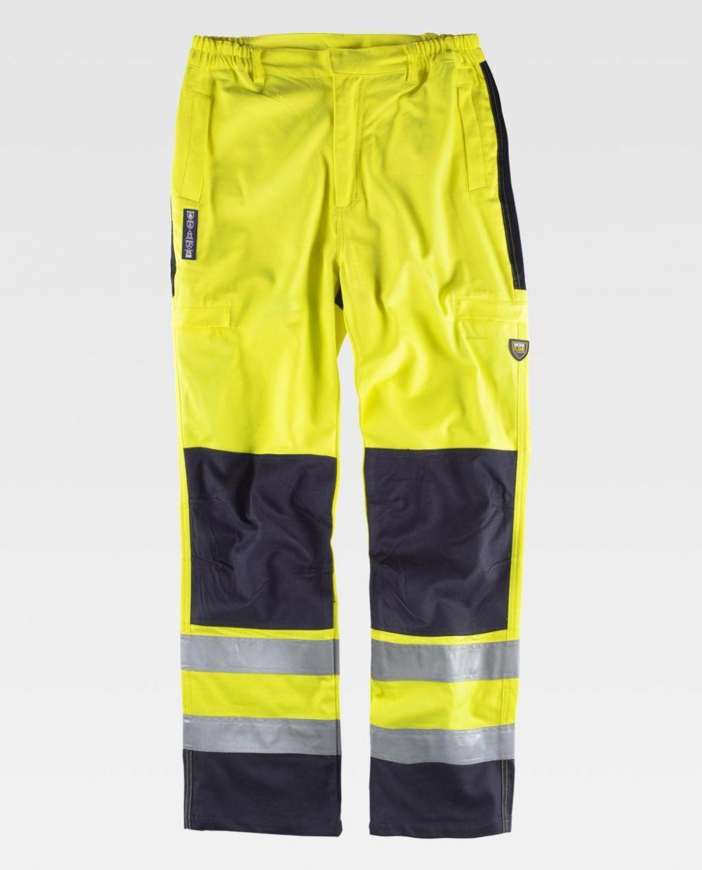 Pantalones reflectantes workteam inifugo, antiestatico proteccion para soldadura de algodon para personalizar vista 1