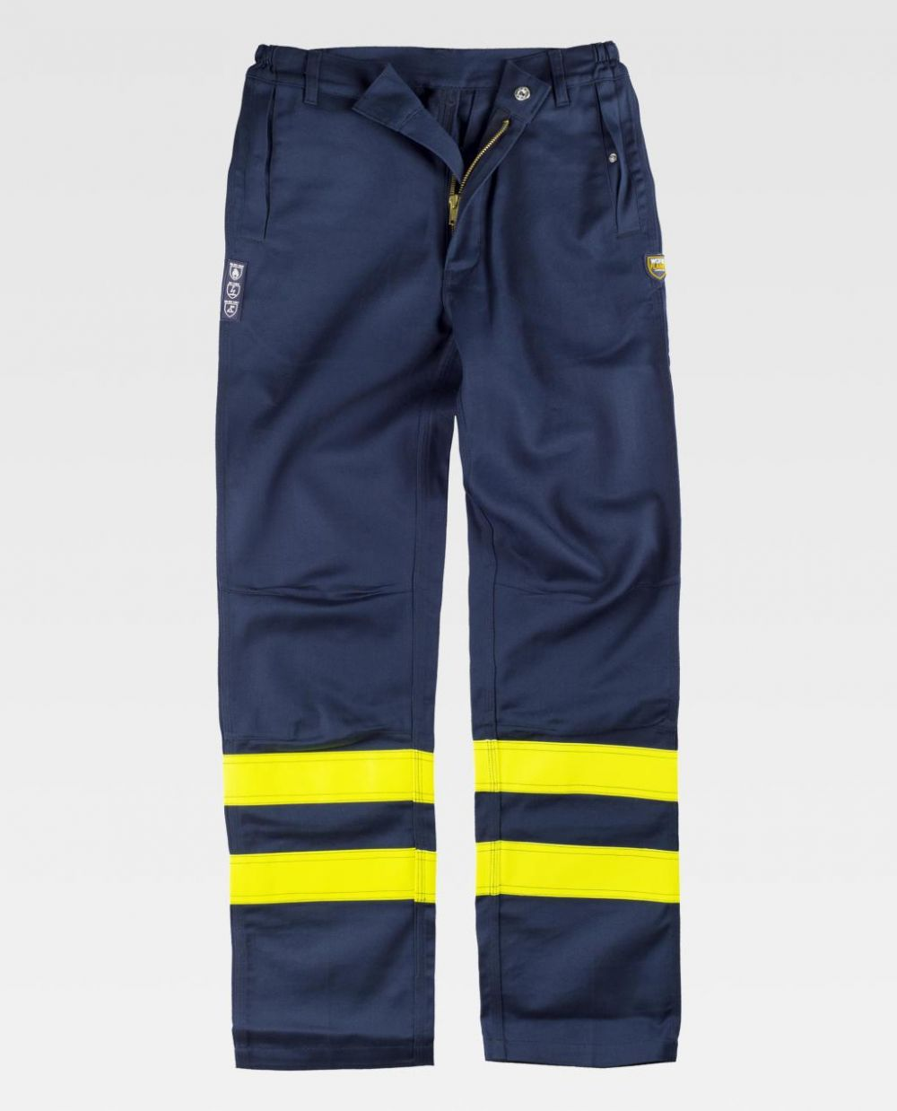 Pantalones reflectantes workteam soldador de algodon vista 1