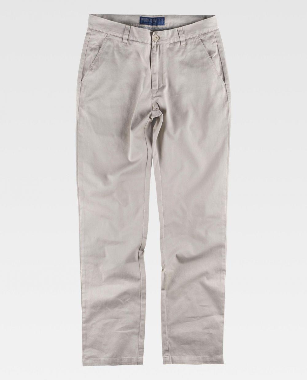 Pantalones de trabajo workteam b4020 de 100% algodón vista 2