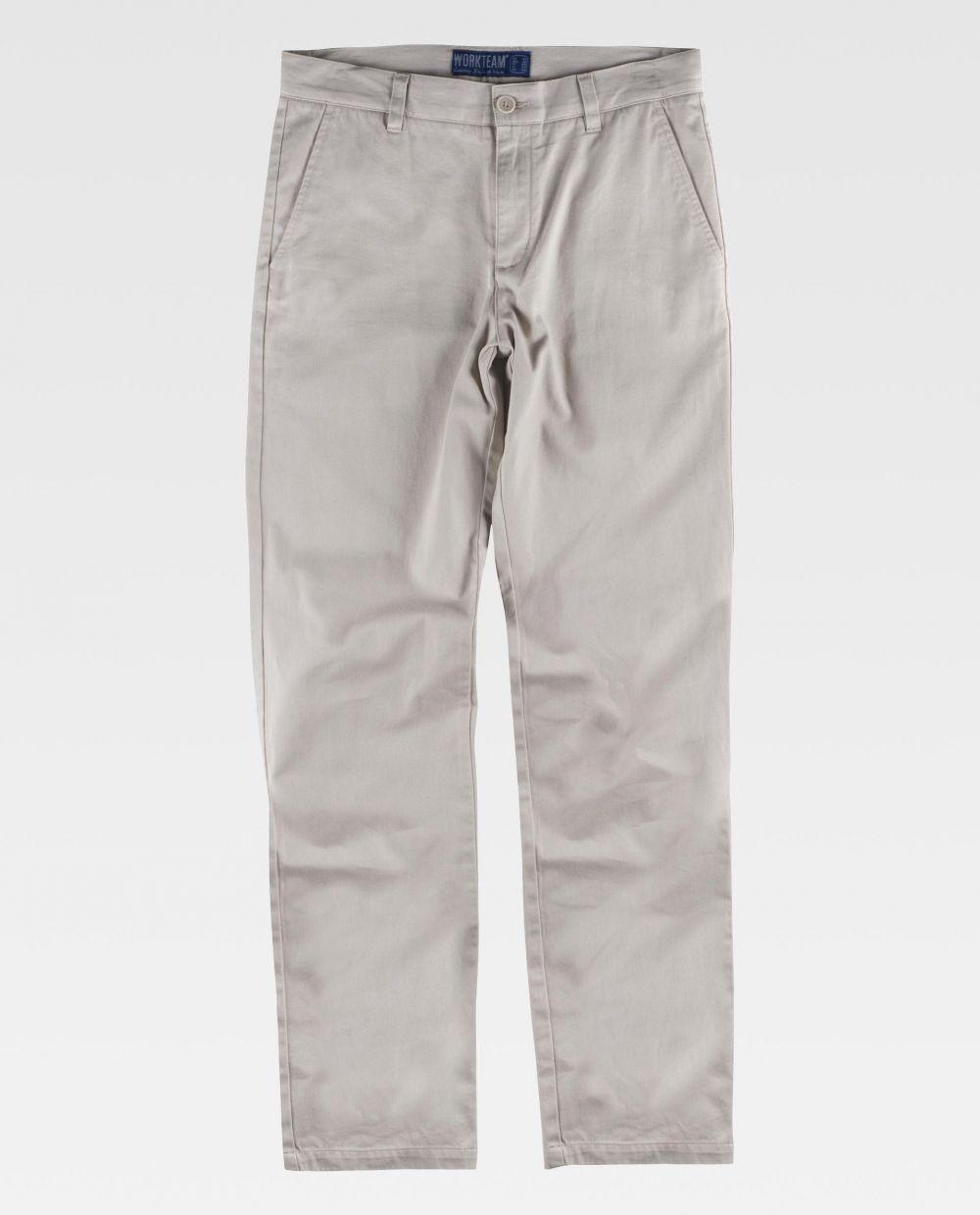 Pantalones de trabajo workteam b4025 de 100% algodón para personalizar vista 2